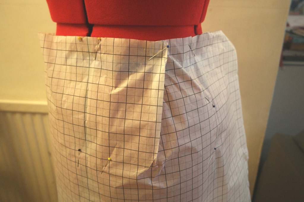 pattern drafting how to draft an a line skirt