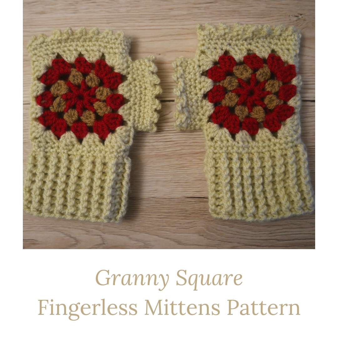 granny square fingerless mittens pattern