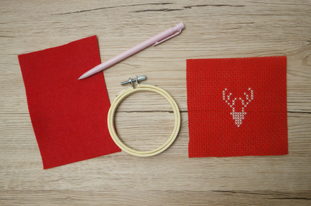 Reindeer Cross Stitch Christmas Decoration