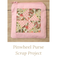 pinwheel purse scrap project