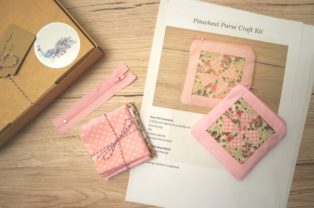 pinwheel purse craft kit