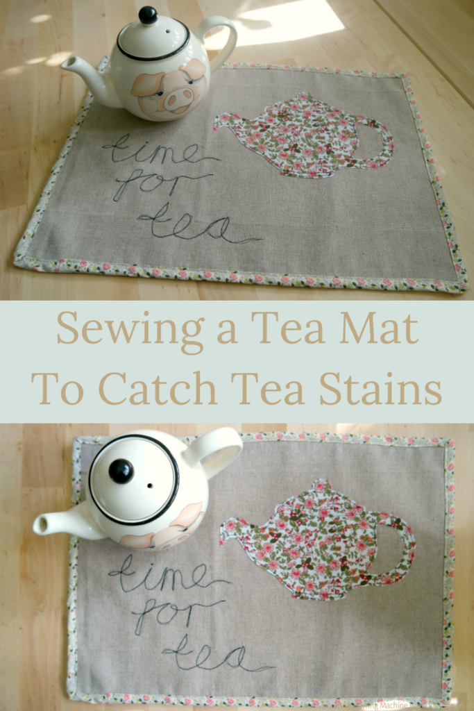 Sewing a tea mat
