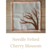needle felted cherry blossom featured image