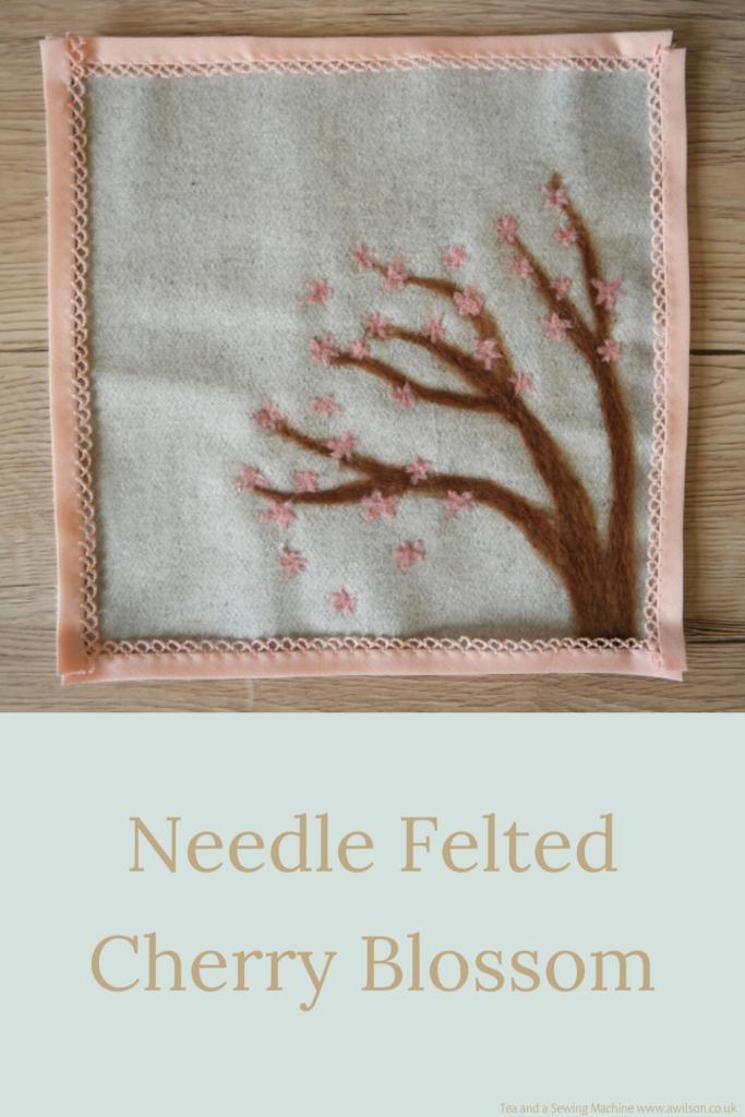 needle felted cherry blossom long image