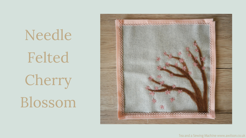 needle felted cherry blossom main image
