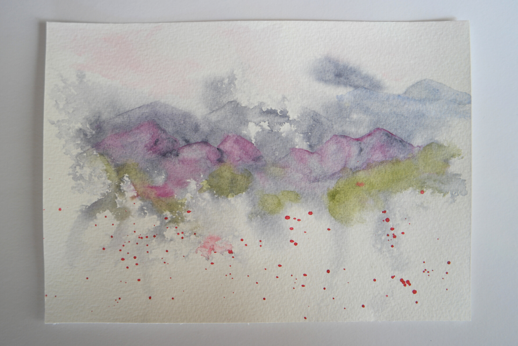 intuitive watercolour painting
