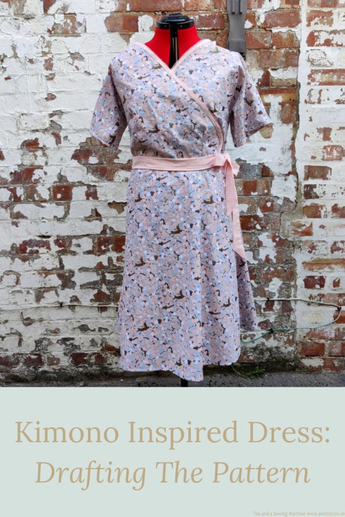 kimono inspired dress drafting the pattern