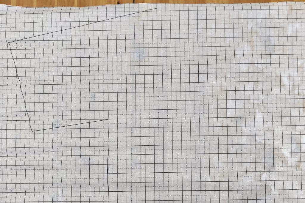 bodice front pattern piece